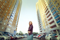 Urban portrait of attractive blonde woman Royalty Free Stock Photography