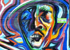 Urban Portrait Graffiti royalty free stock images