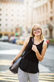 Urban portrait of young woman. Stock Photography