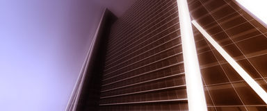 Urban poster. Poster urban skyscrapers in blurry colors Royalty Free Stock Photos