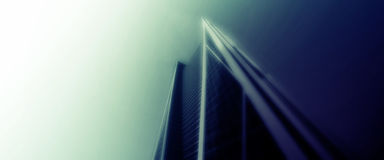 Urban poster. Poster urban skyscrapers in blurry colors Stock Images