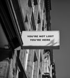 You`re not lost, you`re here royalty free stock photo