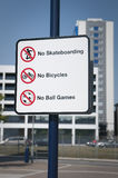 Urban prohibitions sign UK Royalty Free Stock Photo