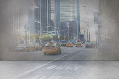 Urban projection on wall Royalty Free Stock Photos
