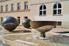 Urban public fountain Royalty Free Stock Image