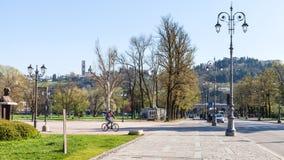 Urban public park Giardini Salvi in Vicenza Stock Photos