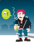 Urban punk character Royalty Free Stock Images