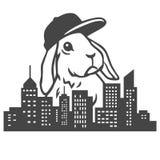 Urban Rabbit Vector. Urban Rabbit Clipart Vector Illustrations Stock Images