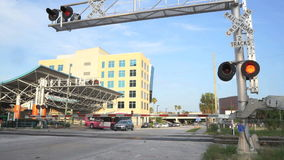 Urban Railroad Crossing stock video footage