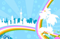 Urban rainbow Stock Photo