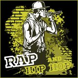 Urban rapper - hip hop vector illustration Stock Photos