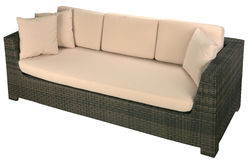 Urban rattan sofa Stock Photos