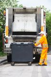 Urban recycling waste and garbage services Royalty Free Stock Photo