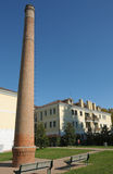 Urban redevelopment. 19th century industrial plant now redeveloped in an urban area Royalty Free Stock Image
