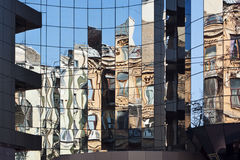 Urban reflection, architecture, abstract, The clash of old and new concept Stock Photo