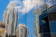 Urban reflection cityscape Royalty Free Stock Images