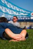 Urban relaxation Royalty Free Stock Photography