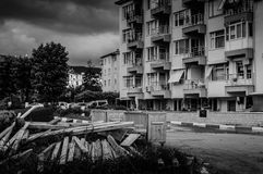 Urban Renewal. Process taking place in a summer vacation area of Turkey nearby the Marmara sea. Marmara region experienced a big earthquake in 1999 ended with Royalty Free Stock Images