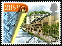 Urban Renewl in Durham UK Postage Stamp Stock Photo
