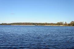 Urban reservoir in Gus-Khrustalny city Royalty Free Stock Image
