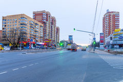 Urban residential area in Moscow Stock Photography