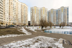 Urban residential area in Moscow Stock Photos
