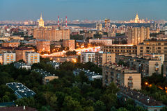 Urban residential areas in summer twilight Stock Photography