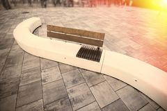 Urban residential chair recreational public area.  Stock Images