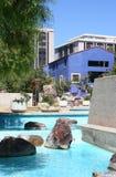 Urban retreat. Downtown Tucson Arizona convention center courtyard stock photo