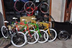 Urban retro bike shop, Copenhagen Stock Image