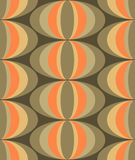 Urban retro chic design. Seamless design epitomising urban retro chic in earth-tones of orange and beige with soft coffee-coloured browns for backgrounds Royalty Free Stock Photos