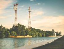 Urban river Stock Photos
