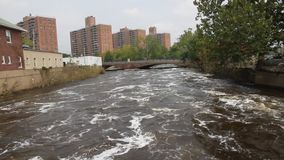 Urban River stock video