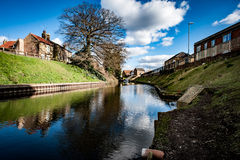 Urban river Royalty Free Stock Images