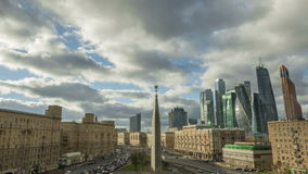 Urban road with cars and pedestrians Russia Moscow stock video