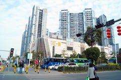 Urban road construction scenery Royalty Free Stock Photo