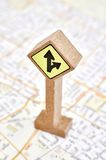 Urban Road Directory. A studio photo of an urban street directory Royalty Free Stock Images