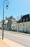 Urban road in medieval town Amboise Royalty Free Stock Photo