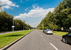 Urban road in Moscow, Stock Photography
