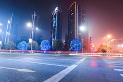 Urban road at night Stock Photography