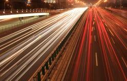 Urban road at night Royalty Free Stock Photo