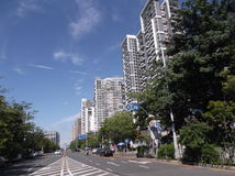 Urban road traffic and building landscape, in Shenzhen Stock Photos
