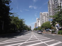 Urban road traffic and building landscape, in Shenzhen Royalty Free Stock Image