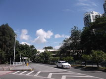Urban road traffic and building landscape, in Shenzhen Royalty Free Stock Photography