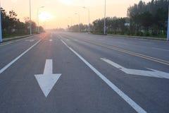 Urban roads Stock Images
