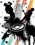 Urban Rock Band. Vector Illustration Royalty Free Stock Photography