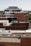 Urban Roof Tops. Red Brick Wall, Windows, Aerial View, Sydney, Australia Stock Photography