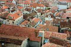 Urban roof tops of an old housing estate Royalty Free Stock Images