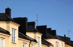 Urban Rooftops Royalty Free Stock Photography