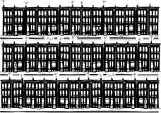 Urban Row Homes Royalty Free Stock Photo